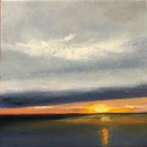 'Half Moon Bay Sunset 1' $100