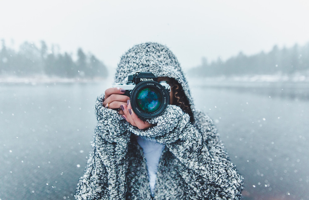 Photographer in mid-winter.