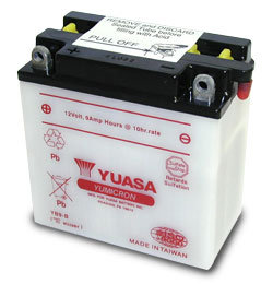 YUASA YB9-B 12V MOTORCYCLE SCOOTER MOPED BATTERY WITH ACID PACK