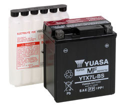 YUASA YTX7L-BS MOTORCYCLE SCOOTER MOPED BATTERY MAINTENANCE FREE