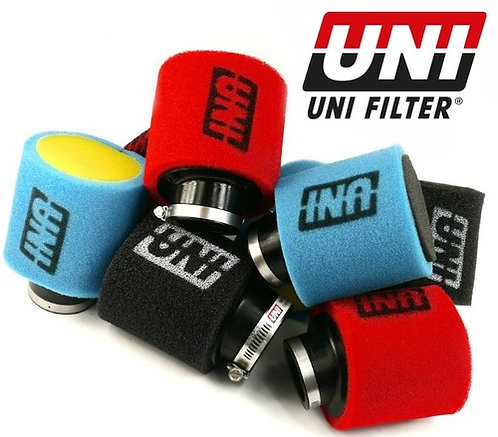 "Uni air filter inclined 44mm 1 3/4"" Red/Black"