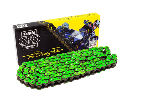 Triple-S Green 420 Pitch 130 Link Motorbike Chain