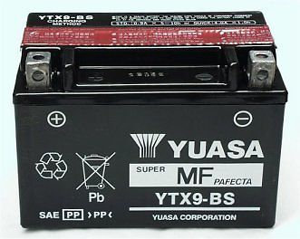 YUASA YTX9-BS MOTORCYCLE BATTERY MAINTENANCE FREE