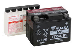 YUASA YTX4L-BS MOTORCYCLE SCOOTER MOPED BATTERY MAINTENANCE FREE