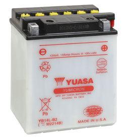 YUASA YB14L-B2 12V MAINTENANCE MOTORCYCLE BATTERY WITH ACID PACK