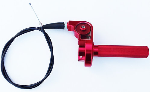 CNC quick action throttle with cable