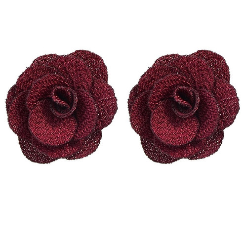 ethnic jewelry black green red navyblue color flower rose shape stud