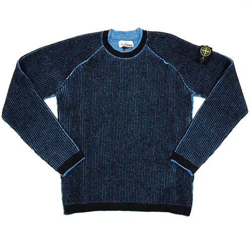 Stone Island Junior - Ribbed Crew Neck Knit