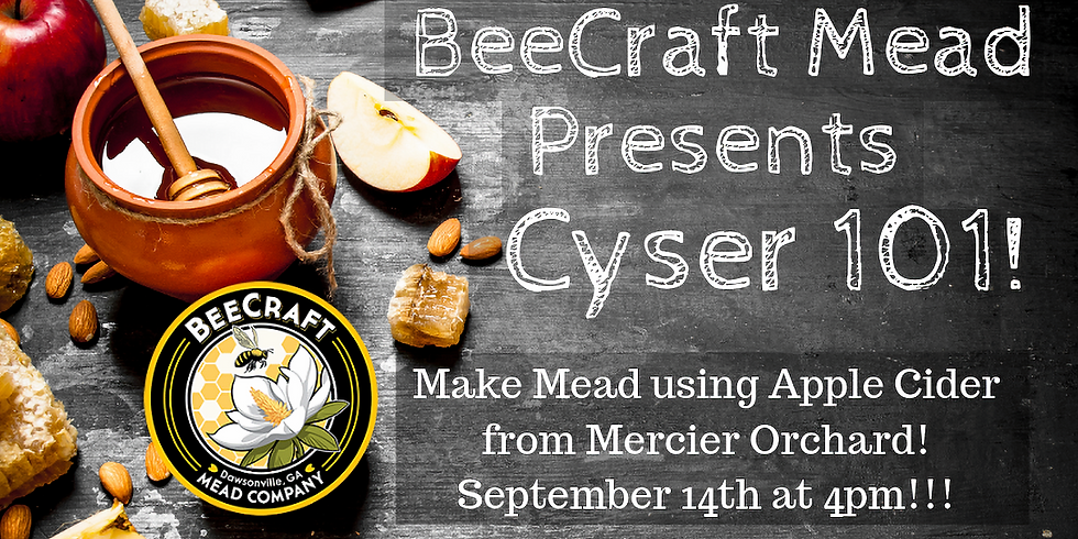 Make a Mead Using Georgia Honey and Cider from Mercier Orchard...a Cyser!!!