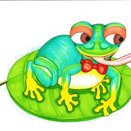 Funny Happy Frog