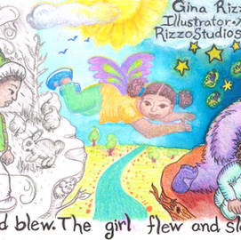 Gina Rizzo Illustrator Author Postaard