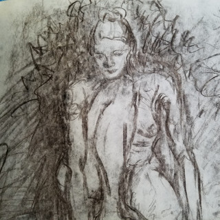 Seated Front Woman Study By Gina Rizzo