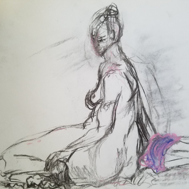 Seated Woman Study By Gina Rizzo