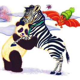 Zebra and Panda Dancing