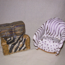 Ceramic Mini Chairs By Gina Rizzo
