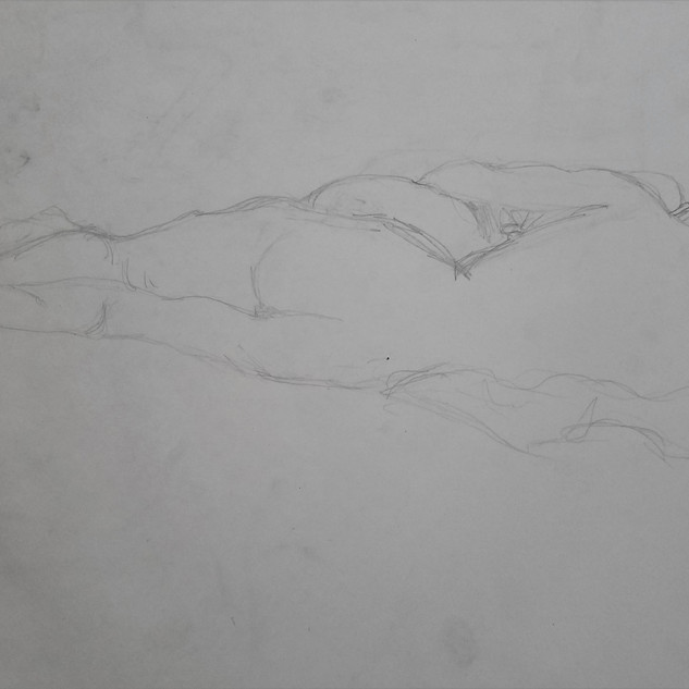 Reclining Woman Study By Gina Rizzo