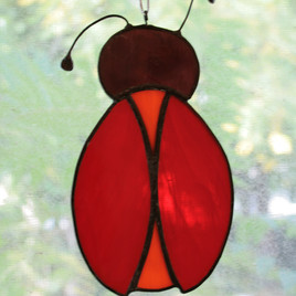 Stained Glass Ladybug By Gina Rizzo