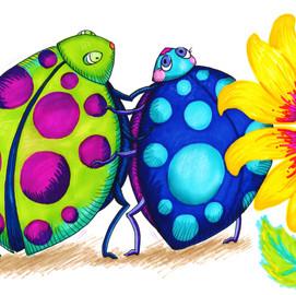 Bug Hug and Sunflower