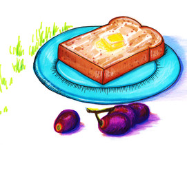 Buttered Toast and Grapes