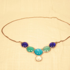 Stained GLass Necklace By Gina Rizzo