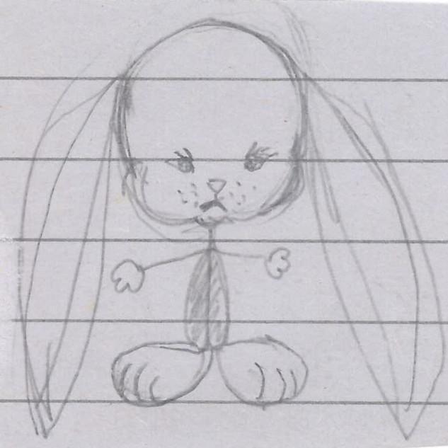 Big Eared Bunny By Gina Rizzo