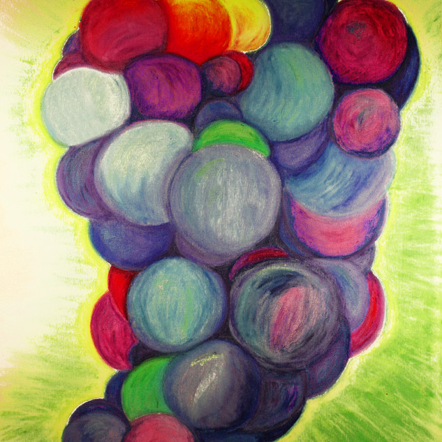 Blue Grapes By Gina Rizzo