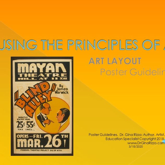 Principles of Art Poster Design