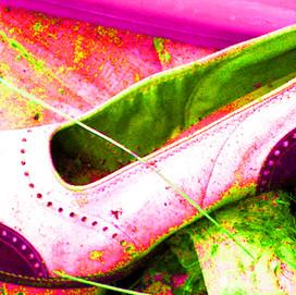 Vintage Purple Shoe