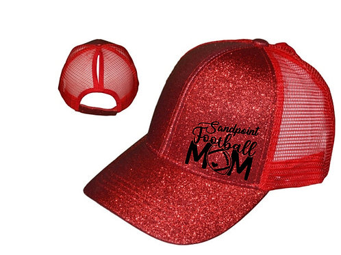 Sandpoint Football Mom Glitter Hat