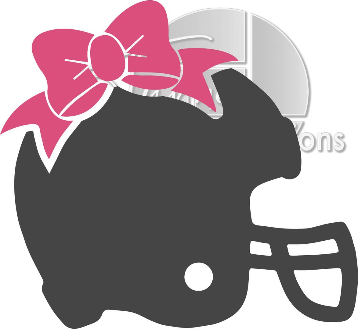 Football helmet with bow.jpg