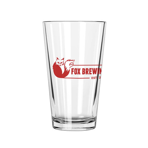 Fox Brewing Pint Glass