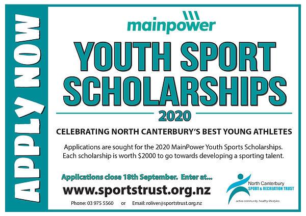 Youth Sport Scholarships Poster landscap