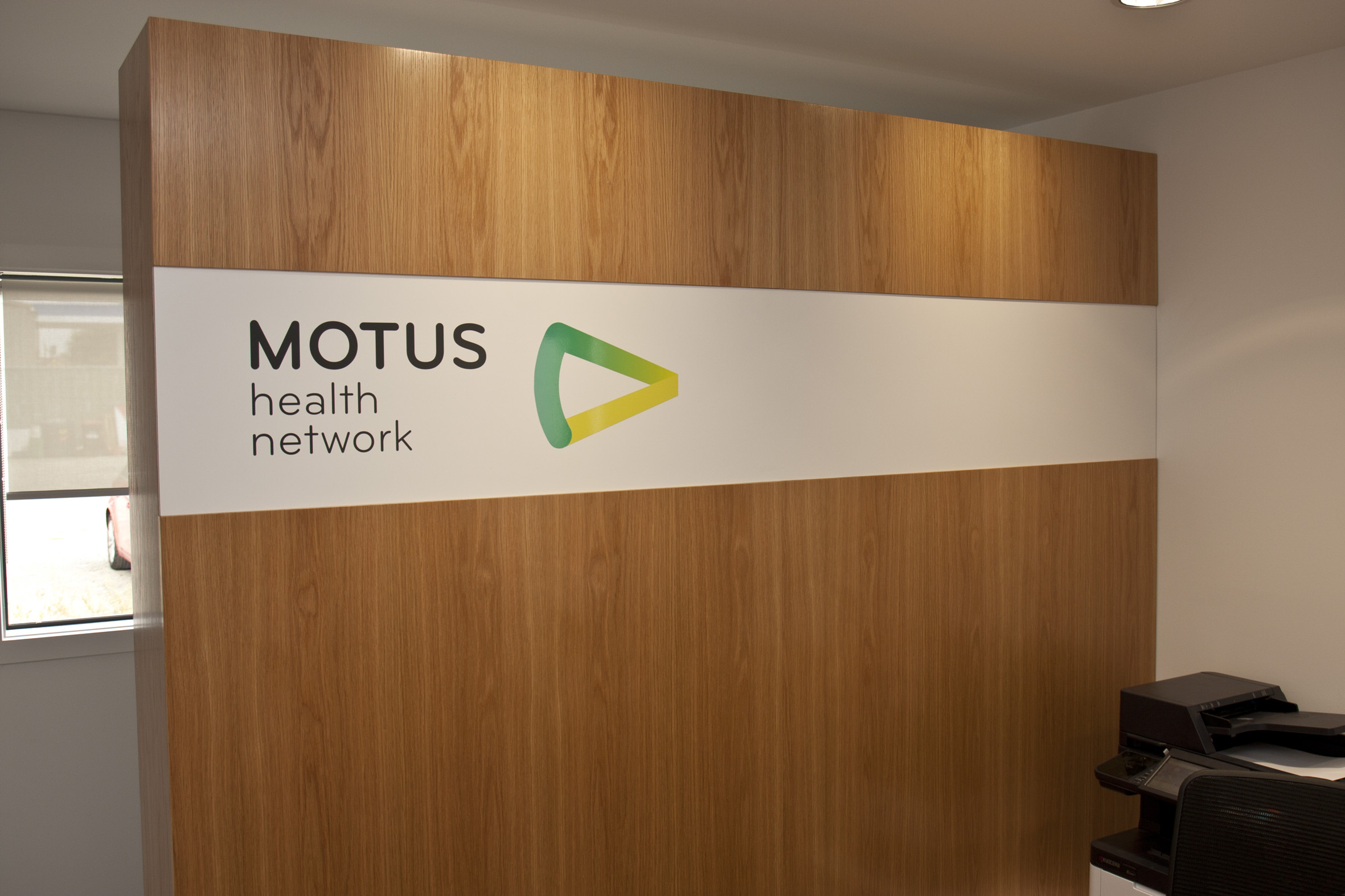 MOTUS Logo wall