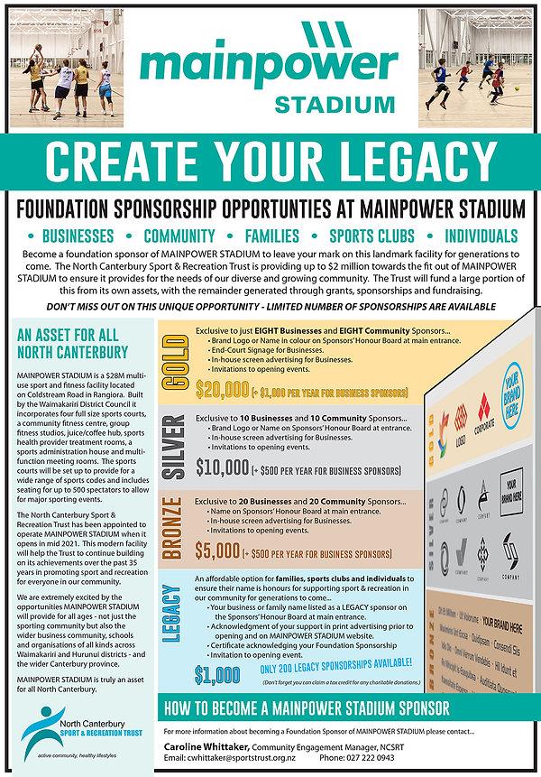 MainPower Stadium Sponsorship Opportunit