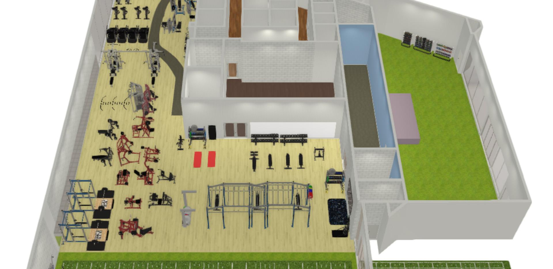 Stadium Fitness Centre layout