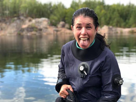 Att lära sig fotografera under vattnet