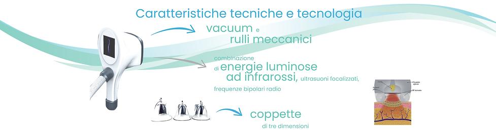 tecnologia a rulli meccanici con vacuum, rf, ultrasuoni, infrarossi e massaggio endoterapico