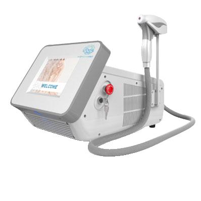 epilazione laser, tre lunghezze d'ona,mnipolo raffreddato