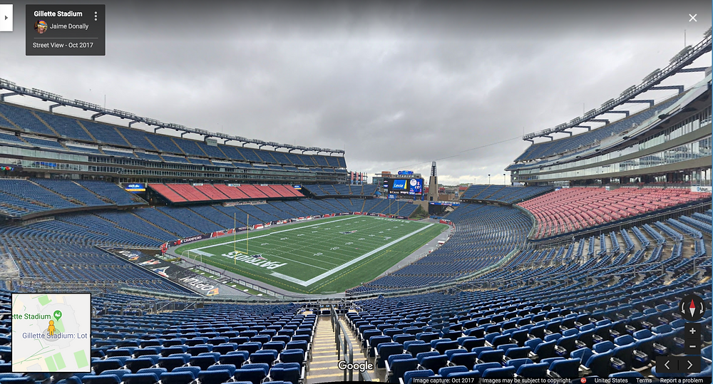 Google Street View of Gillette Stadium #31DaysofARVRinEDU