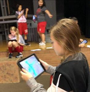 Students using the 4D Anatomy app