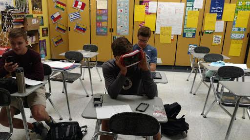 Student using VirtualSpeech #31DaysofARVRinEDU