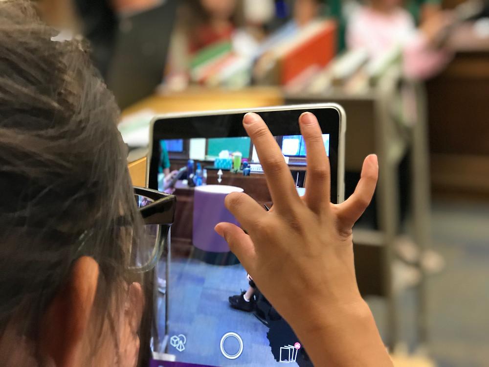 Student creating AR in 3DBear