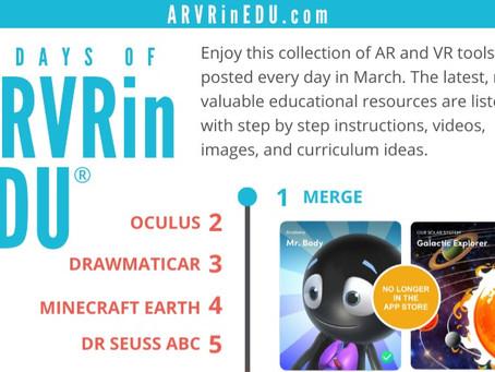 31 Days of ARVRinEDU Recap