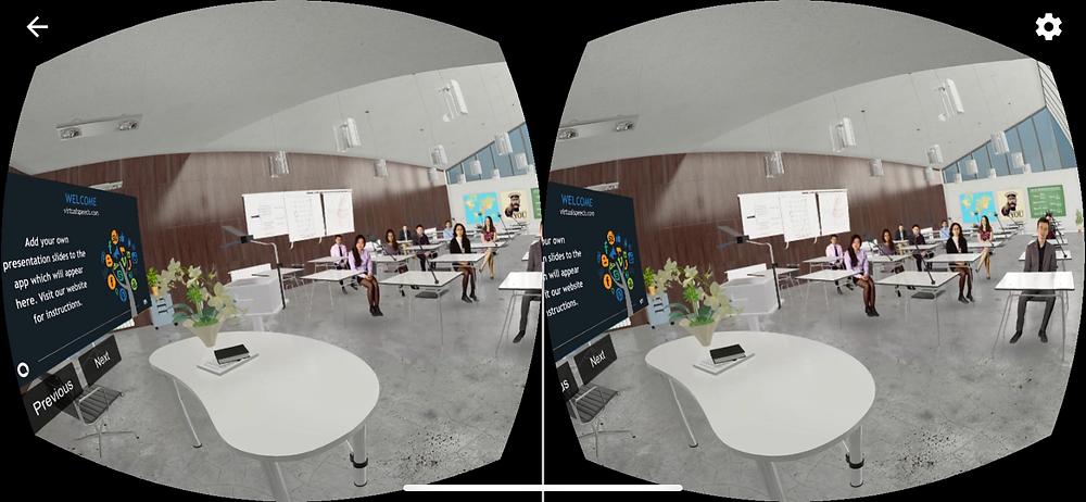 VirtualSpeech in a classroom #31DaysofARVRinEDU