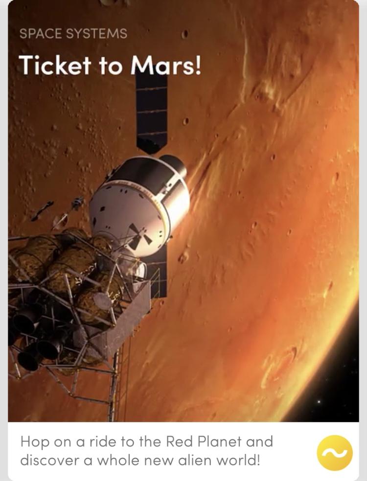 Ticket to Mars!
