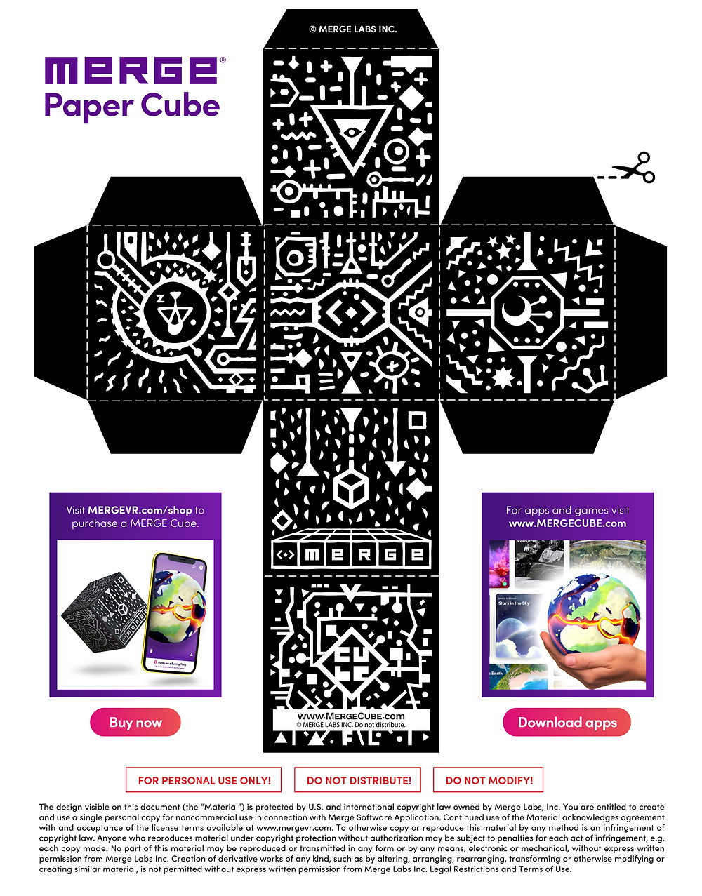 Download the Merge Paper Cube