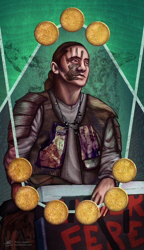 Vince as Nine of Pentacles