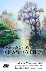 Paintings by Russ Fahey Exhibition Poster