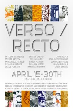 Verso Recto Exhibition Alt Poster