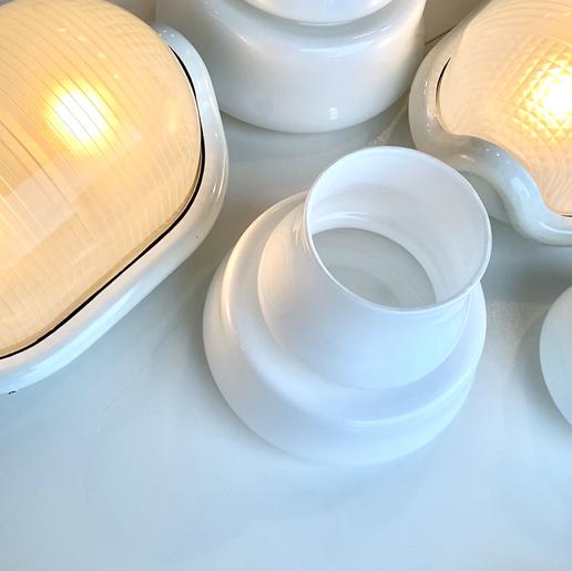 Blanco, Marco vases by Sergio Asti & Noce lamps by Achille & Pier Giacomo Castiglioni